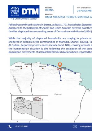 Libya — Derna Flash Update 4 (11—14 June 2018) | Flow monitoring