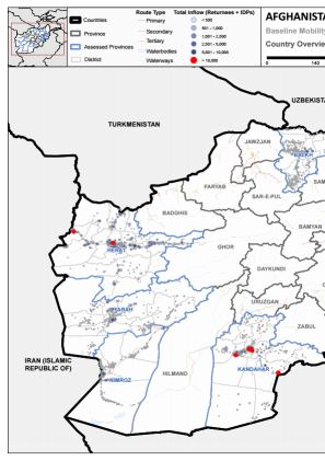 Afghanistan — Map: Overview maps (June 2018) | Flow monitoring